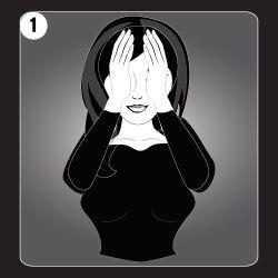 Reiki Hand Position 1