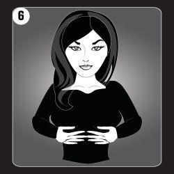 Reiki Hand Position 6