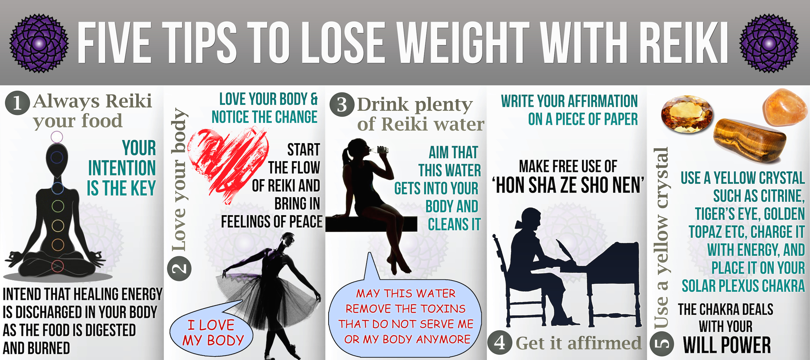 5 Tips to Lose Weight with Reiki