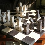 Chess Board before Sanding