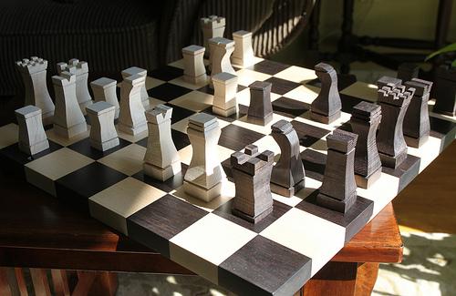 Chess Board before Sanding