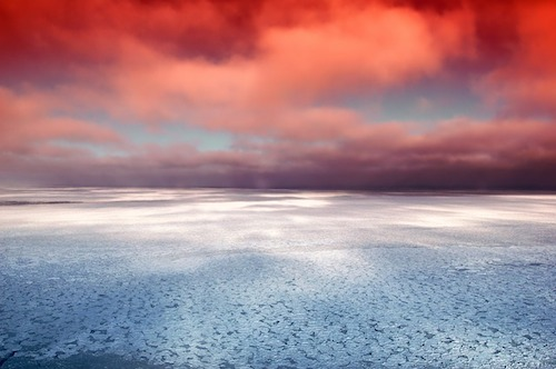 Hudson Bay Canada Sea Ocean Ice Reflections Sky