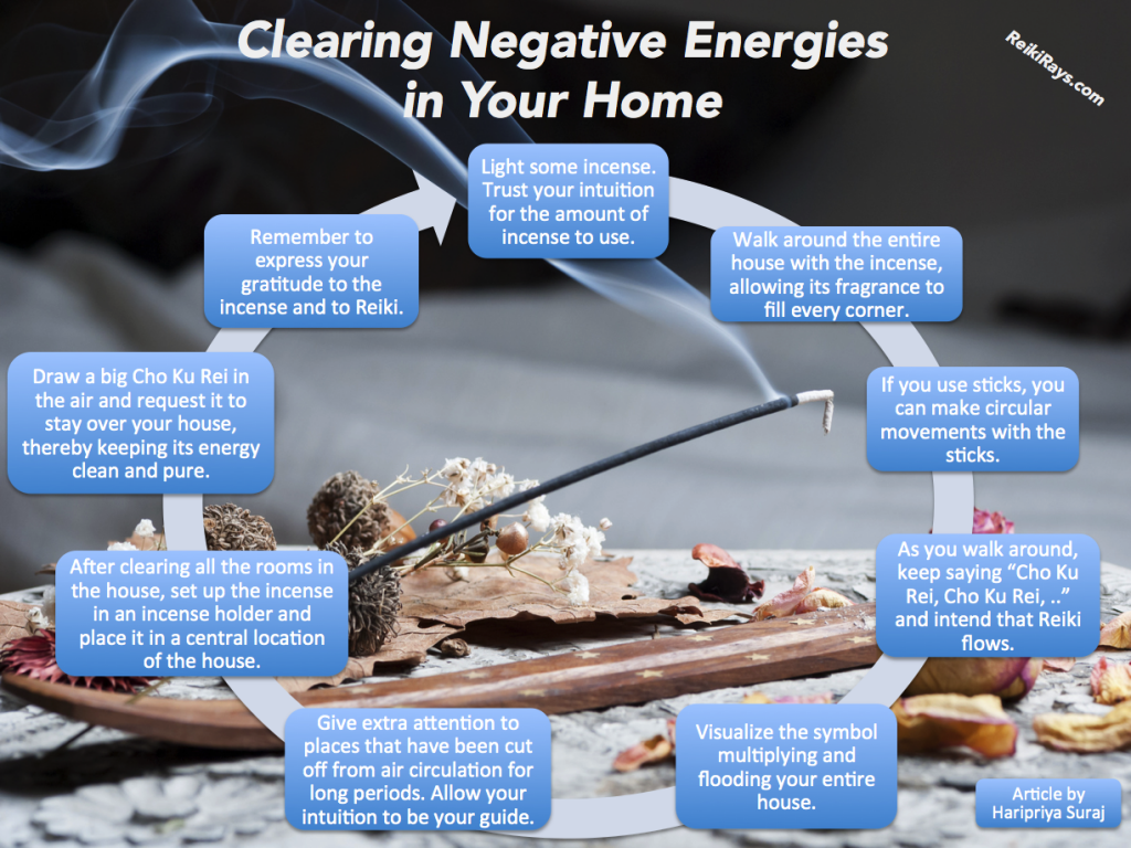 How to cleanse a house of negative energy infographic Negative energy in house