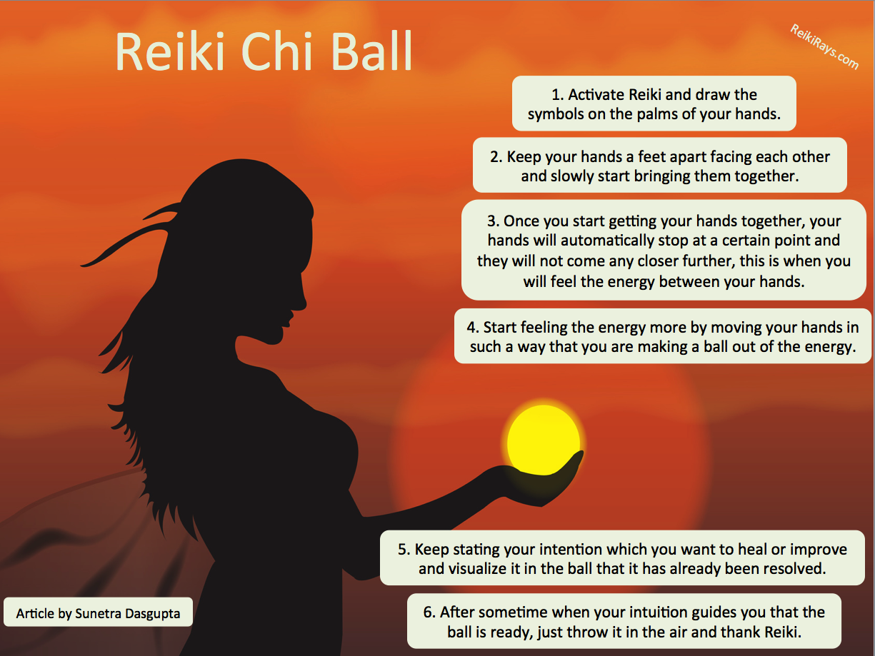 Infographic] Reiki Chi Ball | Reiki With Friends