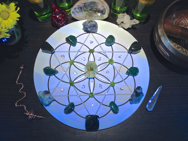 Abundance Prosperity Crystal Gemstone Grid 4