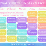 Renewal Reiki Calendar March 2019