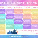 Action Reiki Calendar September 2019