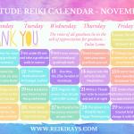 Gratitude Reiki Calendar November 2019